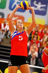 20140928 NED: Supercup, VC Sneek - Coolen Alterno: Sneek<br /> Nynke Oud (5) of VC Sneek<br /> ©2014-FotoHoogendoorn.nl / Pim Waslander