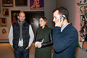 MAX WIGRAM; PHOEBE PHILO; MATTHEW SLOTOVER, George Condo: Mental States. Hayward Gallery. Southbank Rd. London. 17 October 2011. <br /> <br />  , -DO NOT ARCHIVE-© Copyright Photograph by Dafydd Jones. 248 Clapham Rd. London SW9 0PZ. Tel 0207 820 0771. www.dafjones.com.