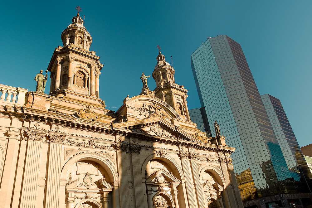 """Metropolitan  Cathedral, """"Plaza de Armas"""" (main square), downtown, Santiago, Chile, South America <br /> <br /> For LICENSING and DOWNLOADING this image follow this link: http://www.masterfile.com/em/search/?keyword=700-03178928&affiliate_id=01242CH84GH28J12OOY4<br /> <br /> For BUYING A PRINT of this image press the ADD TO CART button.<br /> <br /> Download of this image is not available at this site, please follow the link above."""