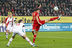 06.11.2011, SGL Arena, Augsburg, GER, 1.FBL, FC Augsburg vs. FC Bayern Muenchen, im Bild Dawda Bah (Augsburg #25) mit Mario Gomez (Bayern #33)  // during the match  FC Augsburg vs. FC Bayern Muenchen , on 2011/11/06, SGL Arena, Augsburg, Germany, EXPA Pictures © 2011, PhotoCredit: EXPA/ nph/  Straubmeier       ****** out of GER / CRO  / BEL ******