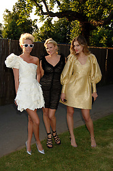 Left to right, the HON.SOPHIA HESKETH, FIONA SCARRY and SARA BRAJOVIC at the annual Serpentine Gallery Summer Party in association with Swarovski held at the gallery, Kensington Gardens, London on 11th July 2007.<br /><br />NON EXCLUSIVE - WORLD RIGHTS