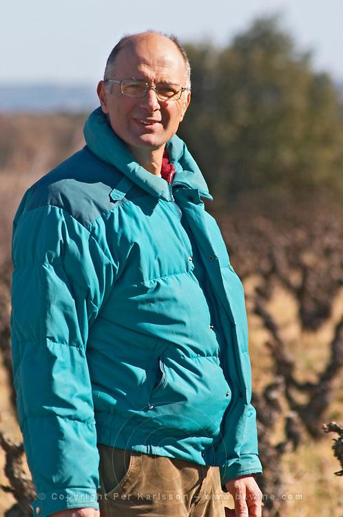 Bernard Bellahsen. Domaine Fontedicto, Caux. Pezenas region. Languedoc. Owner winemaker. France. Europe.