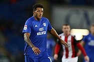 Nathaniel Mendez-Laing of Cardiff city looks on. EFL Skybet championship match, Cardiff city v Sheffield Utd at the Cardiff City Stadium in Cardiff, South Wales on Tuesday 15th August 2017.<br /> pic by Andrew Orchard, Andrew Orchard sports photography.