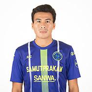 THAILAND - APRIL 09: Teerapol Yoyoei #19 of Samut Prakan City FC on April 09, 2019.<br /> .<br /> .<br /> .<br /> (Photo by: Naratip Golf Srisupab/SEALs Sports Images/MB Media Solutions)