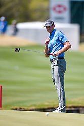 March 21, 2018 - Austin, TX, U.S. - AUSTIN, TX - MARCH 21: Brendan Steele watches a putt during the First Round of the WGC-Dell Technologies Match Play on March 21, 2018 at Austin Country Club in Austin, TX. (Photo by Daniel Dunn/Icon Sportswire) (Credit Image: © Daniel Dunn/Icon SMI via ZUMA Press)