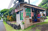 Maui, Hawaii. Two Sisters Lei stand in Kipahulu