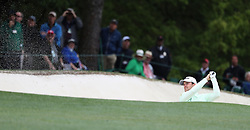 April 7, 2018 - Augusta, GA, USA - Bernd Wiesberger hits from a bunker on the 1st hole during the third round of the Masters Tournament on Saturday, April 7, 2018, at Augusta National Golf Club in Augusta, Ga. (Credit Image: © Jason Getz/TNS via ZUMA Wire)