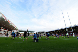 Bristol Rugby warm up prior to kick off - Photo mandatory by-line: Dougie Allward/JMP - Mobile: 07966 386802 - 17/04/2015 - SPORT - Rugby - Bristol - Ashton Gate - Bristol Rugby v Jersey - Greene King IPA Championship
