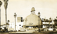 1946 The Brown Derby Restaurant on Vine St. in Hollywood