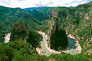 MEXICO, CHIHUAHUA STATE Copper Canyon view of Rio Urique