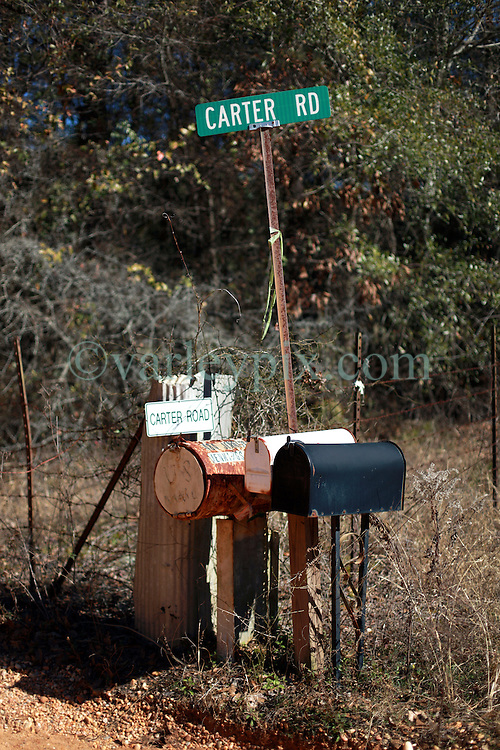 06 February 2015. Monroeville, Alabama.<br /> On the trail of Harper Lee's 'To Kill a Mocking Bird.'<br /> Tucked away behind the trees at the end of a dirt track is author Harper Lee's attorney Tonja Carter's house.<br /> Photo; Charlie Varley/varleypix.com