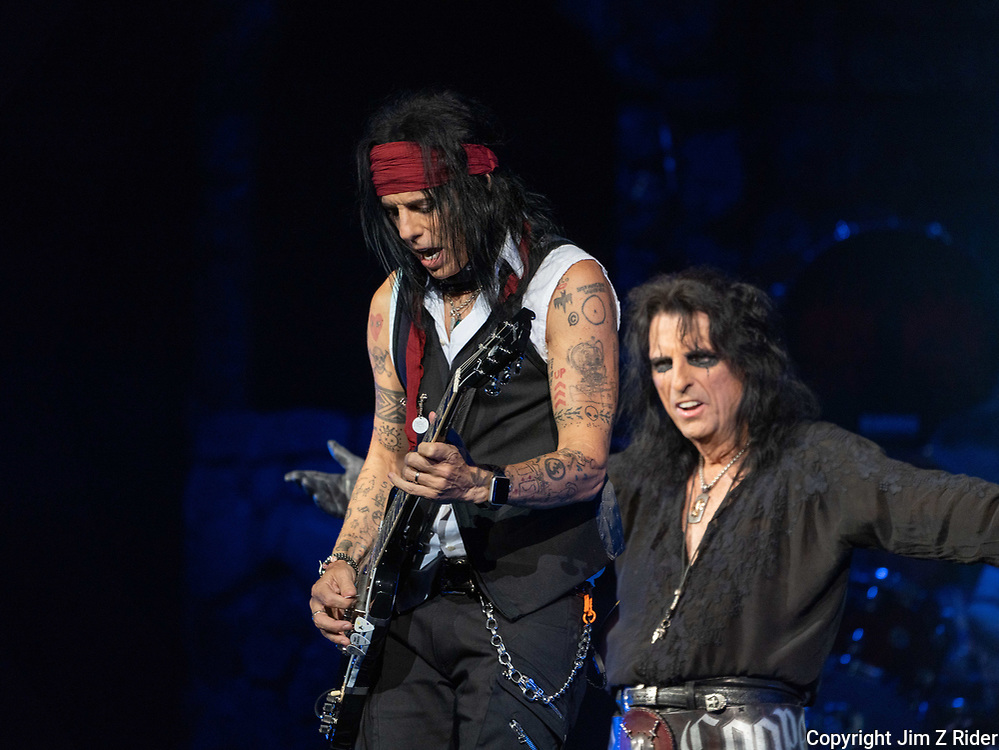 TOMMY HENRIKSEN performs with ALICE COOPER. After nearly 19 months off stage, Rock and Roll legend COOPER, 73, launcheD his fall 2021 tour at Ocean Casino Resort in Atlantic City, New Jersey.