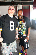 l to r: Everlast and Super Natural backstage at The 2009 Rock the Bells Concert presented by Guerilla Union in association with Budweiser and held at Jones Beach July 19, 2009 in Babylon, NY..Few events can claim to both capture and define a movement, yet this is precisely what Rock The Bells has done since its inception in 2003. Rock The Bells is more than a music festival. It has become a genuine rite of passage for thousands of core, social, conscious, and independent Hip Hop enthusiasts, and Hip Hop Heads Globally. ..Rock The Bells is the ultimate Hip Hop platform and premiere music experience in America. Rock The Bells has established a forum of unparalleled diversity and excellence by uniting the biggest names involved with urban culture.