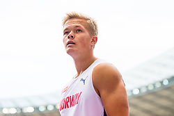 August 10, 2018 - Berlin, GERMANY - 180810 Sondre Guttormsen of Norway competes in the qualifications of the men's pole vault during the European Athletics Championships on August 10, 2018 in Berlin..Photo: Vegard Wivestad GrÂ¿tt / BILDBYRN / kod VG / 170201 (Credit Image: © Vegard Wivestad Gr¯Tt/Bildbyran via ZUMA Press)