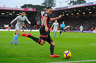 Callum Wilson (13) of AFC Bournemouth crosses the ball during the Premier League match between Bournemouth and West Ham United at the Vitality Stadium, Bournemouth, England on 19 January 2019.