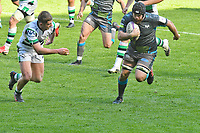 Rugby Union - 2020 / 2021 European Rugby Challenge Cup - Round of 16 - Ospreys vs Newcastle Falcons - Liberty Stadium<br /> <br />  Morgan Morris Ospreys attacks<br /> <br /> COLORSPORT/WINSTON BYNORTH