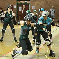 2014-11-22 Manchester Roller Derby's Checkerbroads vs Brighton Rockers Roller Derby