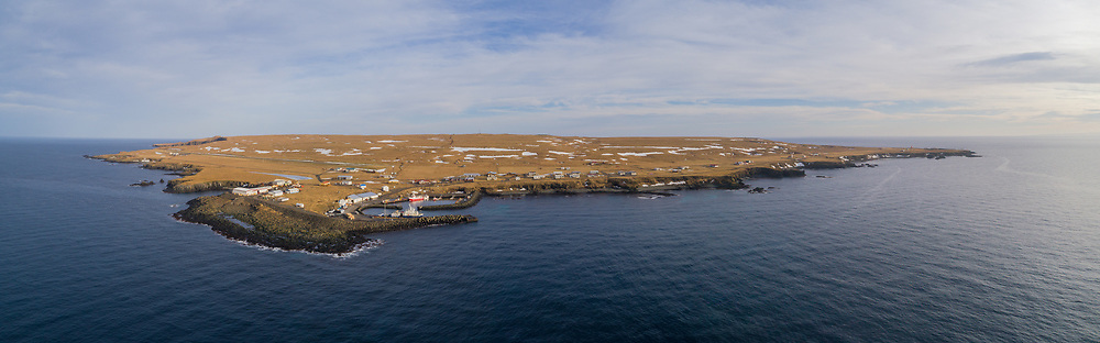 Grimsey in north-Iceland at the arctic circle.