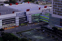 Stock photo of an aerial view of the George R. Brown Center.