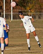Goshen, New York  - Goshen High School plays Washingtonville in a varsity girls' soccer game  on Oct. 7, 2014.