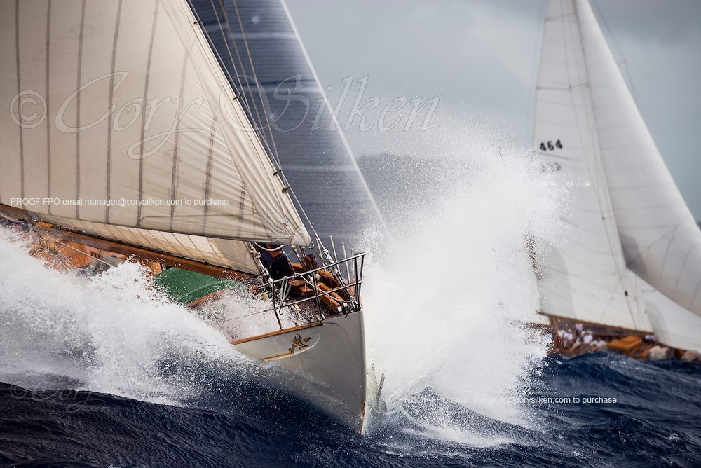 Sumurun sailing in the Antigua Classic Yacht Regatta, Butterfly Race.