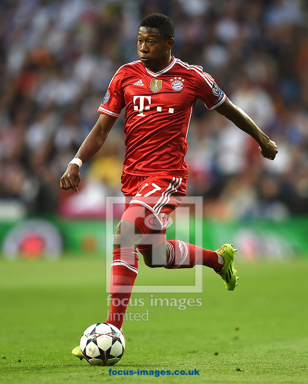 David Alaba of Bayern Munich during the UEFA Champions League match against Real Madrid at the Estadio Santiago Bernabeu, Madrid<br /> Picture by Andrew Timms/Focus Images Ltd +44 7917 236526<br /> 23/04/2014