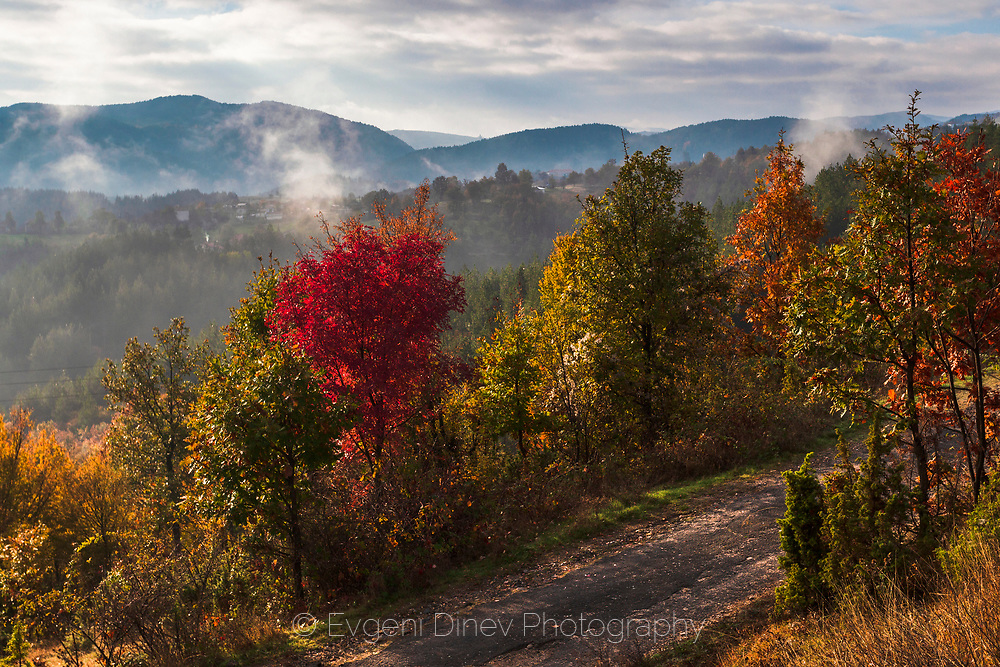 East Rhodope Mountains at autumn time