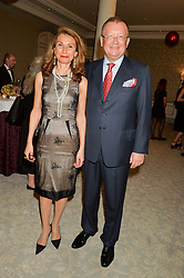 The Russian Ambassdor to UK ALEXANDER YAKOVENKO and his wife NANA at the Gift of Life Old Russian New Year's Eve charity gala held at The Savoy Hotel, London on 13th January 2016.