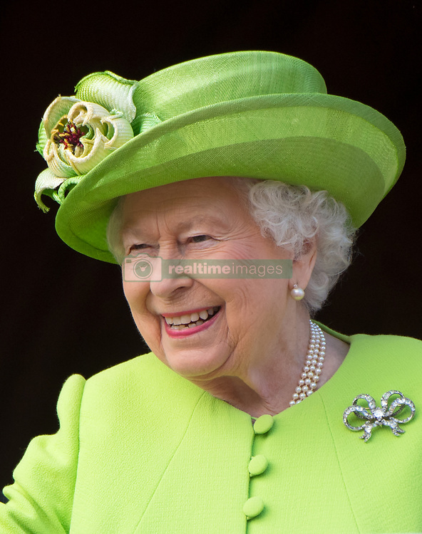Queen Elizabeth ll smiles during a visit to Chester on June 14, 2018
