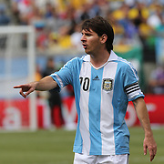 Lionel Messi, Argentina, during the Brazil V Argentina International Football Friendly match at MetLife Stadium, East Rutherford, New Jersey, USA. 9th June 2012. Photo Tim Clayton