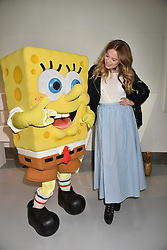 Poppy Jamie at the LFW Sponge Bob Gold presentation at The Atrium, The Store Studios, 180 The Strand, London England. 18 February 2017.
