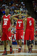 Aaron Harrison (20 of Fort Bend Travis reacts after a charge call against Richardson Berkner during the UIL Conference 5A semifinals at the Frank Erwin Center in Austin on Friday, March 8, 2013. (Cooper Neill/The Dallas Morning News)