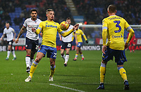 Leeds United's Kalvin Phillips chests the ball down<br /> <br /> Photographer Andrew Kearns/CameraSport<br /> <br /> The EFL Sky Bet Championship - Bolton Wanderers v Leeds United - Saturday 15th December 2018 - University of Bolton Stadium - Bolton<br /> <br /> World Copyright © 2018 CameraSport. All rights reserved. 43 Linden Ave. Countesthorpe. Leicester. England. LE8 5PG - Tel: +44 (0) 116 277 4147 - admin@camerasport.com - www.camerasport.com
