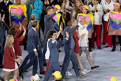 Netherlands, Dubbeldam Jeroen, Opening ceremony<br /> Olympic Games Rio 2016<br /> © Hippo Foto - Dirk Caremans<br /> 05/08/16