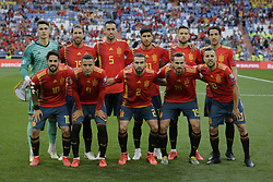 Spain national team photo aduring UEFA EURO 2020 Qualifier match between Spain and Sweden at Santiago Bernabeu Stadium in Madrid, Spain. June 10, 2019. Photo by A. Perez Meca/Alterphotos/ABACAPRESS.COM