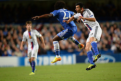 18.09.2013, Stamford Bridge, London, ENG, UEFA Champions League, FC Chelsea vs FC Basel, Gruppe E, im Bild Chelsea's Willian and Basel's Behrang Safari  during UEFA Champions League group E match between FC Chelsea and FC Basel at the Stamford Bridge, London, United Kingdom on 2013/09/18. EXPA Pictures © 2013, PhotoCredit: EXPA/ Mitchell Gunn <br /> <br /> ***** ATTENTION - OUT OF GBR *****