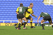 Photo Peter Spurrier<br /> 29/09/02   ZURICH PREMIERSHIP RUGBY<br /> London Irish vs Wasps<br /> Lawrence DALLAGLIO, is caught by exiles, Barry Everitt, Madejski Stadium, Reading Berkshire, [Mandatory Credit: Peter Spurrier/Intersport Images]
