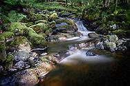 Ashness Bridge Waterfall, Lake District, Cumbria, UK