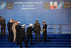 September 28, 2018 - Warsaw, Poland - Welcome ceremony of the NATO Military Committee Conference meeting at Courtyard of the Royal Castle in Warsaw, Poland on 28 September 2018  (Credit Image: © Mateusz Wlodarczyk/NurPhoto/ZUMA Press)