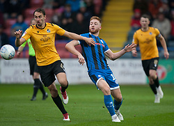 Edward Upson of Bristol Rovers (L) and Callum Camps of Rochdale in action - Mandatory by-line: Jack Phillips/JMP - 02/11/2019 - FOOTBALL - Crown Oil Arena - Rochdale, England - Rochdale v Bristol Rovers - English Football League One
