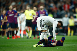 March 2, 2019 - Madrid, MADRID, SPAIN - Lionel (Leo) Messi of FC Barcelona and Sergio Ramos of Real Madrid during the spanish league, La Liga, football match played between Real Madrid and FC Barcelona at Santiago Bernabeu Stadium in Madrid, Spain, on March 02, 2019. (Credit Image: © AFP7 via ZUMA Wire)
