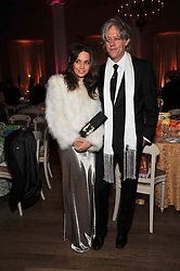 SIR BOB GELDOF and JEANNE MARINE at the Royal Rajasthan Gala 2009 benefiting the Indian Head Injury Foundation held at The Banqueting House, Whitehall, London on 9th November 2009.