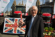 Ming Campbell at the National Farmers Union NFU took machinery, produce, farmers and staff to Westminster to encourage Members of Parliament to back British farming, post Brexit on 14th September 2016 in London, United Kingdom. MPs were encouraged to sign the NFU's pledge and wear a British wheat and wool pin badge to show their support.