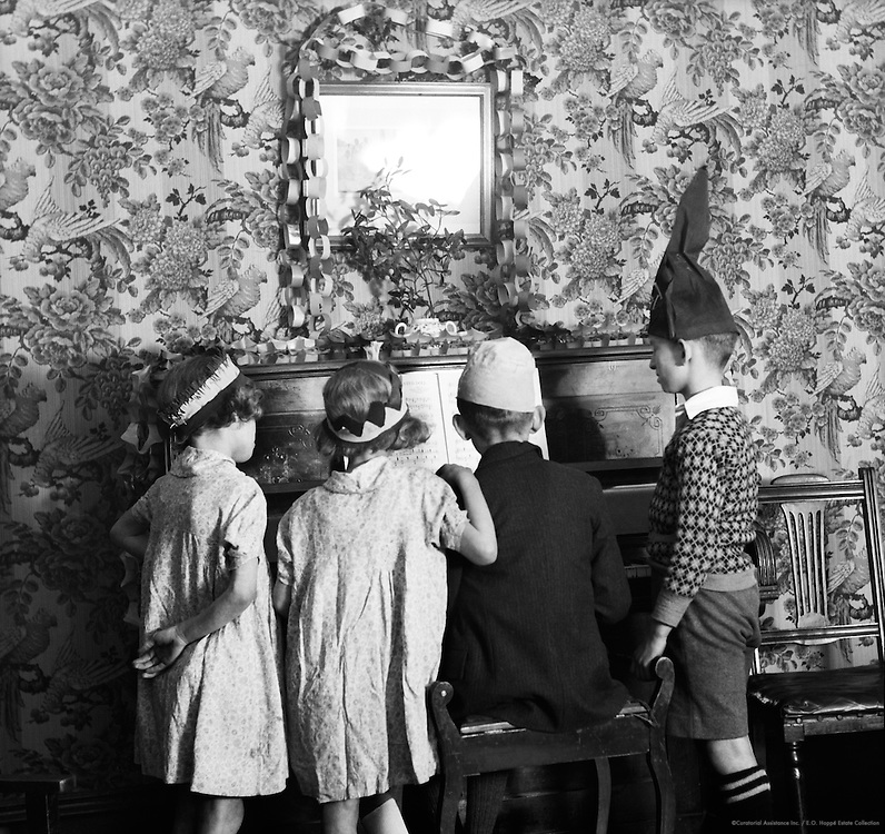 Chidren's Christmas party, England, 1932