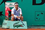 Roland Garros. Paris, France. 26 Mai 2010..Le joueur italien Fabio FOGNINI contre Gael MONFILS...Roland Garros. Paris, France. May 26th 2010..Italian player Fabio FOGNINI against Gael MONFILS..