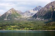 Steep mountains on Grytoya island, Troms county, northern Norway