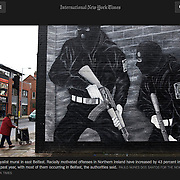 """Screengrab of """"In Northern Ireland, a wave of immigrants is met with fists"""" published in The New York Times"""
