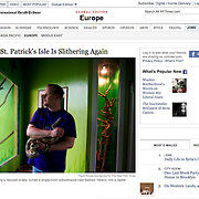 """Tearsheet of """"Boom Over, St. Patrick's Isle Is Slithering Again"""" published in The New York Times"""