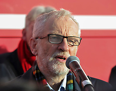 Labour leader Jeremy Corbyn campaigns in Scotland, Hamilton, 13 November 2019