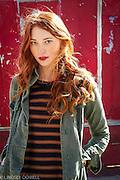 red head, urban, fashion,